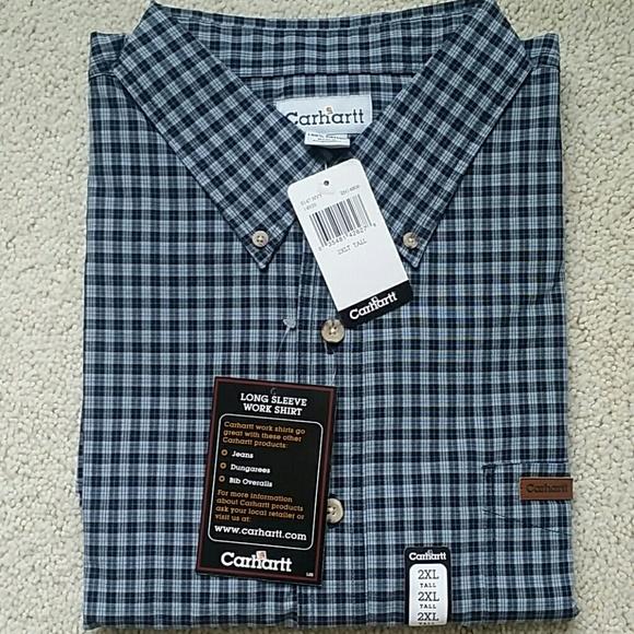db5be5e6eec1 Carhartt men s long sleeve cotton shirt